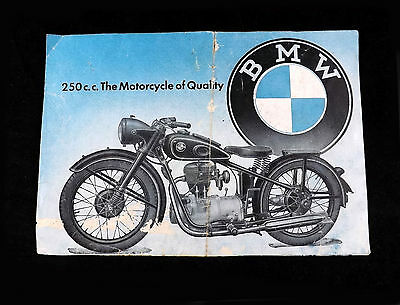 1948 BMW R-24 Touring Motorcycle Sales Brochure 250CC -The Motorcycle of Quality