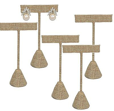 "Lot Of 12 Modern Burlap Earring Display Stand Earring Tree 5 3/4""h Earring Stand"