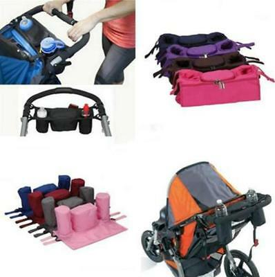 ON SALE Baby Stroller Parent Console Organizer Double Cup Holder Mummy Bag Q