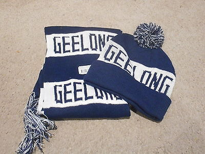 Geelong Footy Scarf And Beanie  - *brand New**
