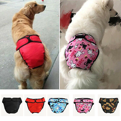 BG Reusable Washable Pet Dog Diaper Breeds Physiological Pants Female Big Dog