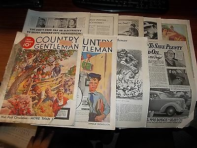 Lot of 8 Vintage Country Gentleman Magazines/Papers Ads History 1937-1942    +