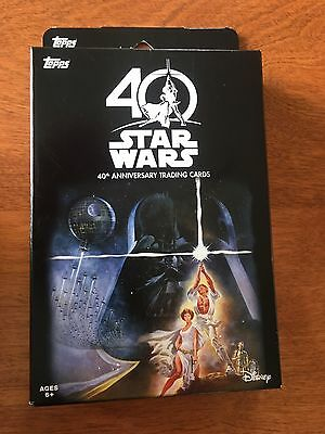 2017 Topps Star Wars - 40th Anniversary - Target Exclusive - 16 Card Box