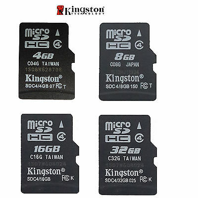 Auténtico Kingston Micro-sd SDHC 4GB/8GB/16gb/32GB Tf Flash C4 Tarjeta de