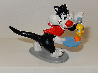Sylvester The Cat & Tweety Bird Toy PVC Figure Applause Figurine Cake Topper