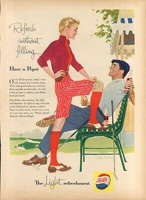 Pepsi Refresh without filling… golf couple ad 1957 Family Circle