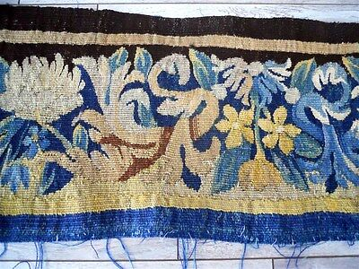 Other  Aubusson Tapestry Antique French 17Th-Century   Chateau Wine Bordeaux