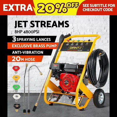 Giantz 8HP 4800PSI High Pressure Washer Cleaner Petrol Water Gurney 20M Hose