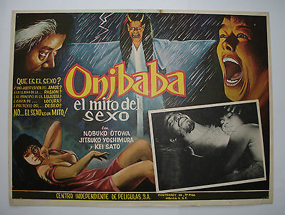 ORIGINAL 1961 JAPANESE FILM POSTER 'ONIBABA' By K SHINDO : Spanish/Mexican Lobby
