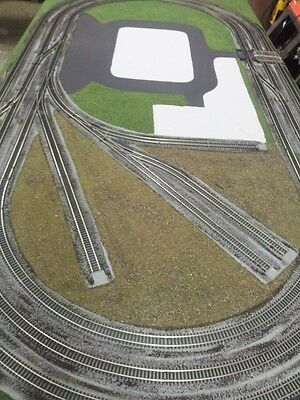 Hornby Train Layout wired and ready for buildings