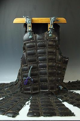 Japanese Early Edo Samurai Iron Chain Mail Armor Yoroi Dou M083