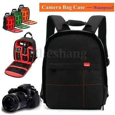 Waterproof DSLR SLR Camera Backpack Shoulder Bag Case Cover For Canon Sony Nikon