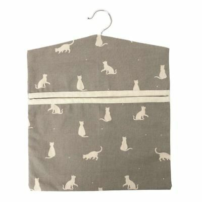 Rushbrookes Happy Cats Hanging Peg Storage Bag in Slate