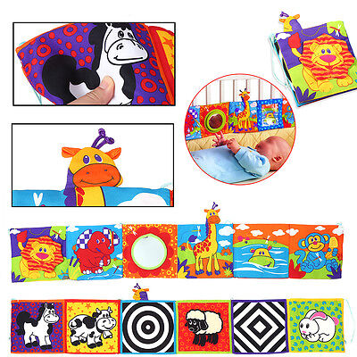 Intelligence Development Cloth Bed Cognition Book Educational Child Kid Baby Toy