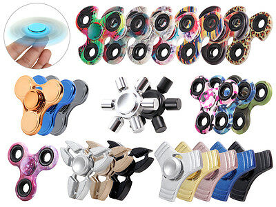 Turbo Fidget Spinner Finger Pocket Tri-bar Kreisel Anti Stress ADHS Alu Metall