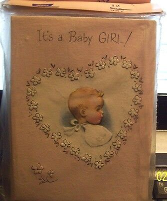 vintage nos~24~UNUSED BABY GIRL Birth Announcement Cards  #2