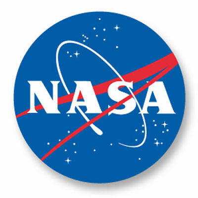 Badge NEUF, 25 mm, NASA, National Aeronautics and Space Administration.
