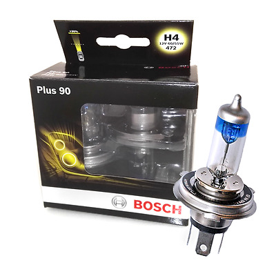 Bosch H4 Lampe 12V 60/55W P43t Bosch +90% 2st. Duo Box Halogen
