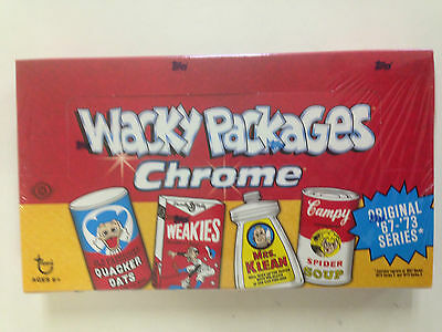 2014 Topps Wacky Packages Chrome Hobby Box ( 24 Packs )