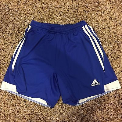 Adidas climalite soccer athletic shorts Blue Youth Kids size Small