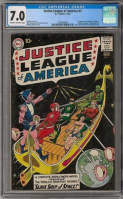 Justice League of America #3 CGC 7.0 (C-OW) 1st Kanjar Ro
