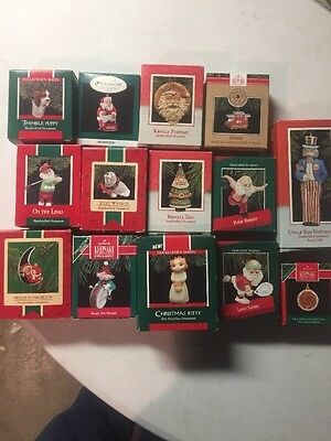 VINTAGE HALLMARK lot of 15 Christmas ornaments in boxes NEVER OPENED