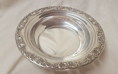 VINTAGE  Sterling Silver Reed And Barton FLORENTINE LACE Dish/Bowl