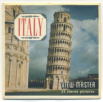ITALY 1956 Sawyer's View-Master Packet B-180 with Reels #1600-ABC