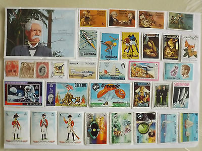 Collection of stamps from GRENADA & GRENADINES : off paper : 43 stamps plus MS