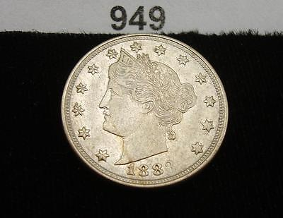 """1883 """"without Cents"""" N/c Liberty V Nickel  #949"""