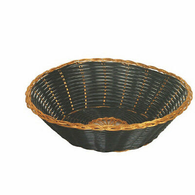 12 Fast Food Basket Serving Baskets Gold/Black Round PLBB825G High Quality NEW