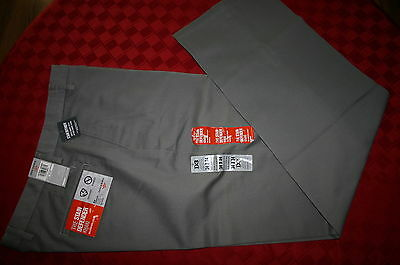 Mens Dockers D3 The Stain Defender Khaki Pants 34 X 34 Flat Front Gray Nwt