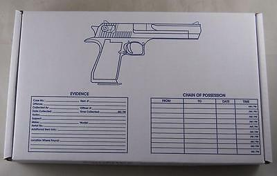 Lot of 23 Evidence Boxes for Hand Gun or Pistol - Police Use Pistol Box Storage