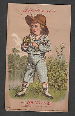 Victorian Trade Card Larkin Boraxine Sweet Home Soap Buffalo New York