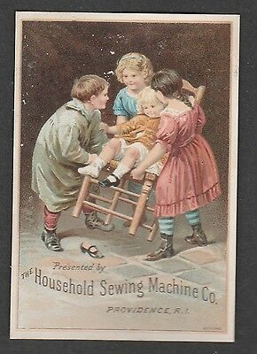Victorian Trade Card Household Sewing Machine Co. Providence Rhode Island