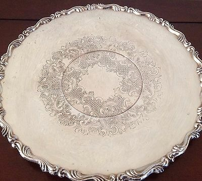 Vintage Canadian Oneida Silver Plate Vintage Plate Charger Tray