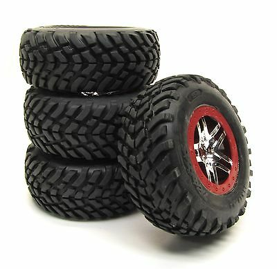 SLASH ULTIMATE TIRES RED S1 RACING COMPOUND 12mm Tyres Ultra-Soft Traxxas 6804r