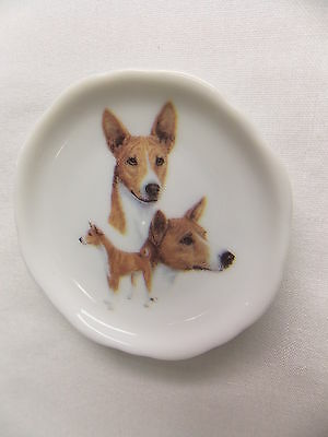 Basenji Dog 3 View Porcelain Plate Magnet Fired Decal- 89