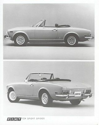 1974 Fiat 124 Sport Spider Convertible Factory Photo uc2948