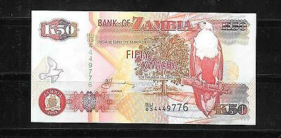 ZAMBIA #37h 2009 UNCIRCULATED 50 KWACHA BANKNOTE CURRENCY BILL NOTE PAPER MONEY