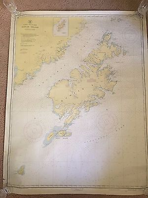 Vintage 1938 1St Edition Kodiak Island, Alaska Map