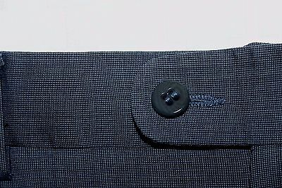 ZANELLA Made in Italy 32 X 29 Blue Flat Front TODD Wool Dress Pants Men's