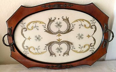 Vintage Ornate Serving Tray with French Provincial Detail