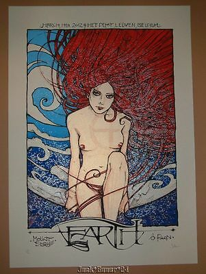 Malleus Earth Leuven Poster Print Signed Numbered 2012 Art Band