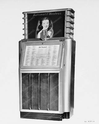 AMI Automatic Hostess Scopitone Jukebox 1941 8 by 10 Reprint Photograph