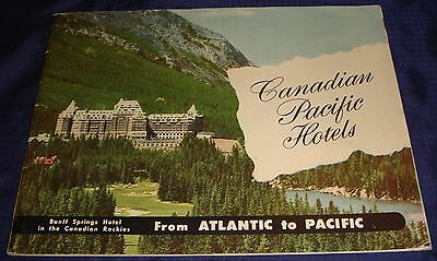 BR1194 Vtg 1946 Canadian Pacific Railway Hotels CPR 28 Pages Photos & Info