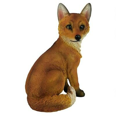 Sly Woodland Fox Garden Statue Yard Decor Nature Red Fox
