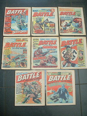 8 x 1976 BATTLE COMICS PICTURE WEEKLY vgc