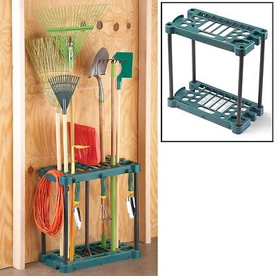 Heavy Duty Durable Garden Tool Shed Garage Organizer Rack