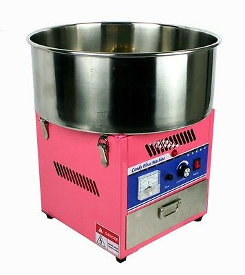 New MTN Deluxe Commercial Electric Cotton Candy Floss Machine Maker Pink